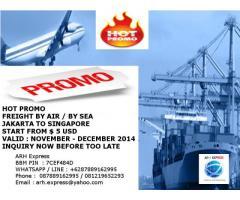 PROMO PENGIRIMAN PAKET, CARGO, PERSONAL EFFECT/USE JAKARTA KE SINGAPORE